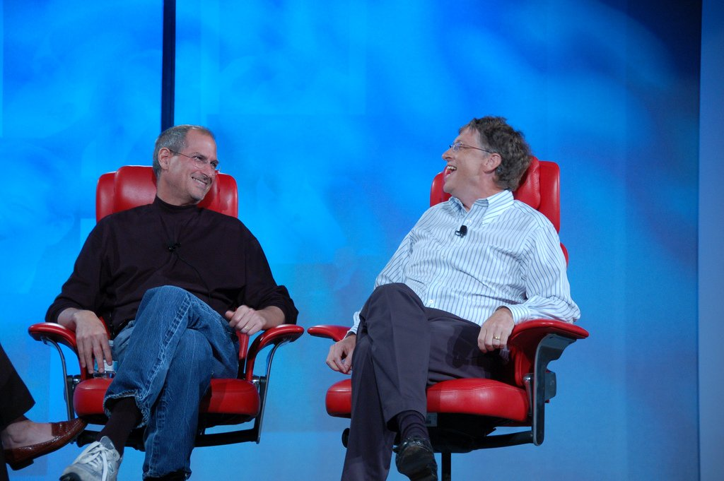 Steve Jobs and Bill Gates in 2007